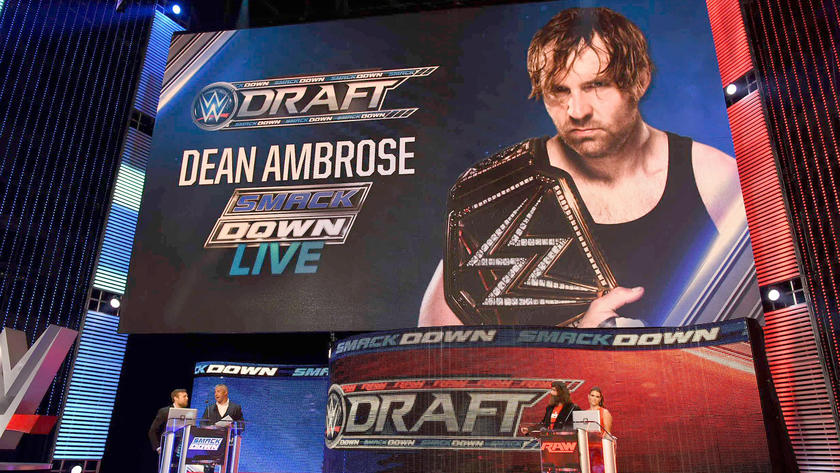 Dean Ambrose brings the WWE Championship to SmackDown Live
