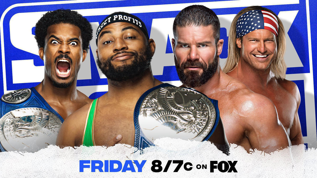The Street Profits take on Dolph Ziggler & Robert Roode in a SmackDown Tag Team Title Match