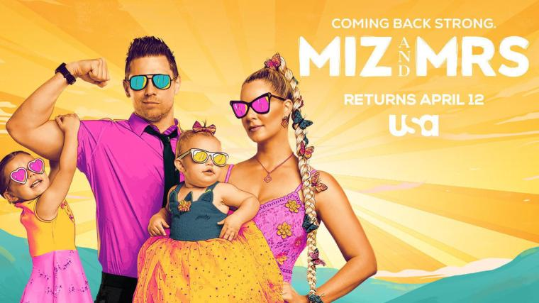 USA Network's Miz & Mrs. returns April 12 and will now follow Monday Night Raw