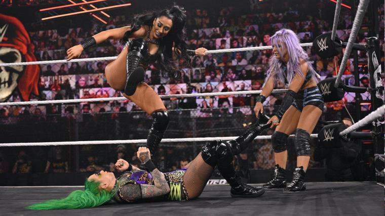 NXT Women's Tag Team Champions Shotzi Blackheart & Ember Moon def. The Way