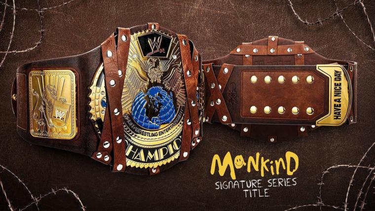 Mankind Signature Series Championship Replica Title now available on WWE Shop