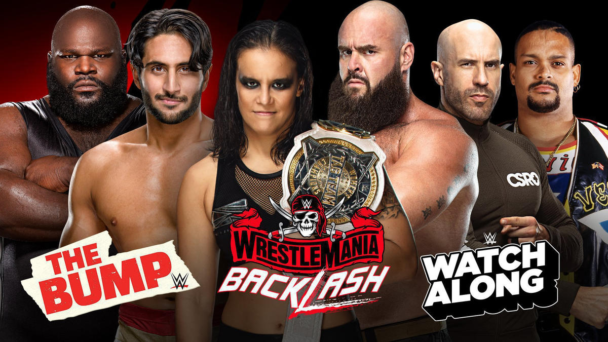 WWE's The Bump, Kickoff Show, Watch Along and more slated for WrestleMania Backlash Sunday