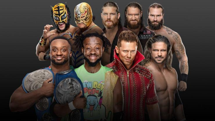 The New Day (c) vs. The Miz & John Morrison vs. The Forgotten Sons vs. Lucha House Party for the SmackDown Tag Team Championship