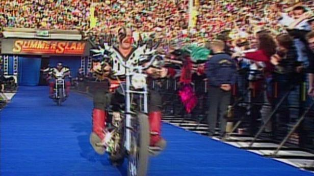 Legion of Doom enters the ring on motorcycles: SummerSlam 1992 | WWE