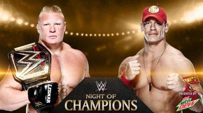 Brock Lesnar vs. John Cena at WWE Night of Champions 2014