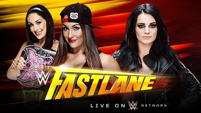 Divas Champion Nikki Bella vs. Paige at WWE Fastlane 2015
