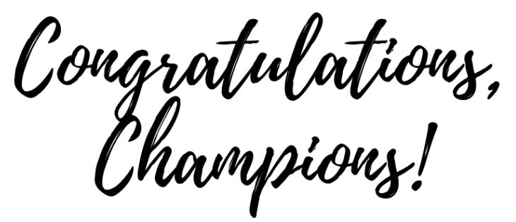 Image result for congratulations champions
