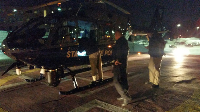 State Police Air Wing and Lowell officials rescue man from