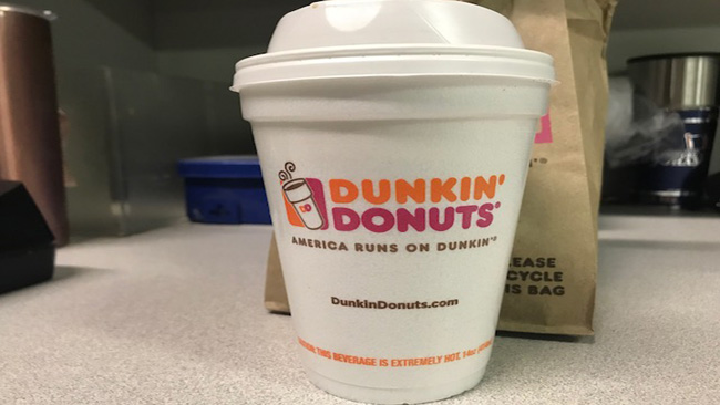 71767ae58b9 Dunkin' Donuts to stop using foam cups by 2020