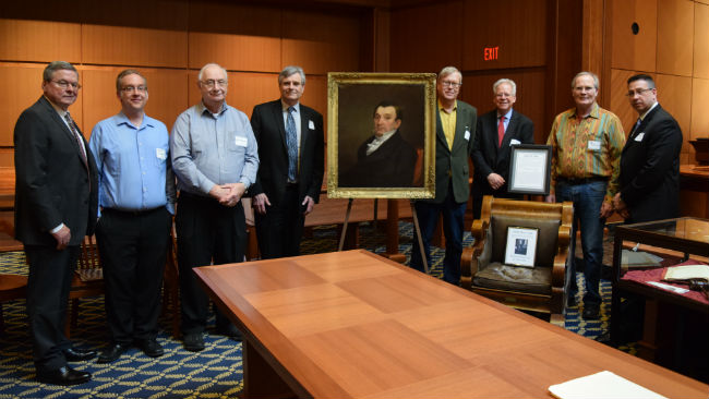 Lemuel Shaw Portrait Unveiling with correct guessers_1523473963630.JPG.jpg
