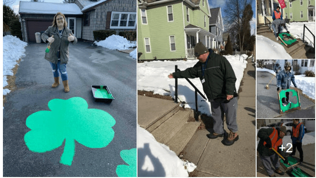 painted shamrocks in Holyoke