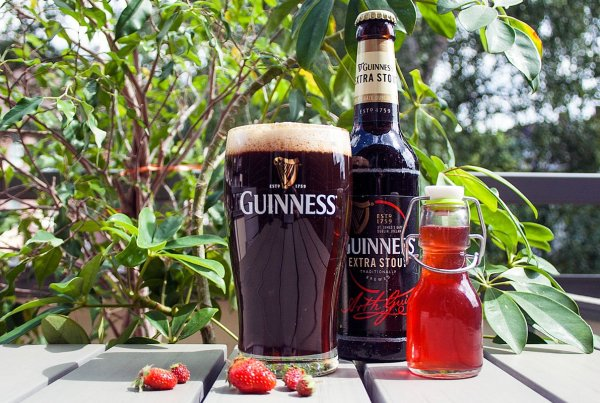 Erdbeer-Guinness