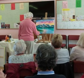 Interactive Painting with Sophia Flowers for the west wight painting circle