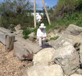 Summer Sun and Painting out in Gurnard with the West Wight Painting Circle