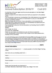 Annual Subscription 2019 form image