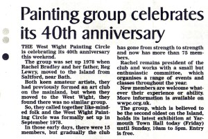 Newspaper Clipping from IWCP