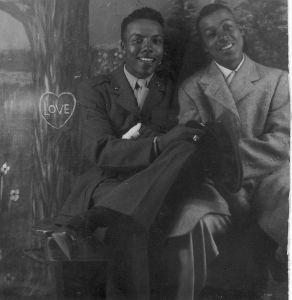 Historian Gay - vintage image of 2 gay men from the world war II era