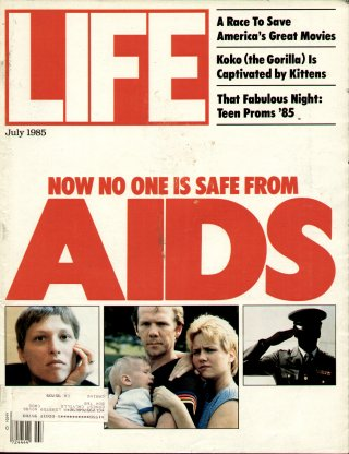 Cover of life magazine on aids