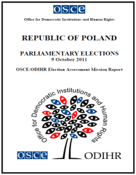 OSCE ODIHR EAM report on 2011 parliamentary election in Poland