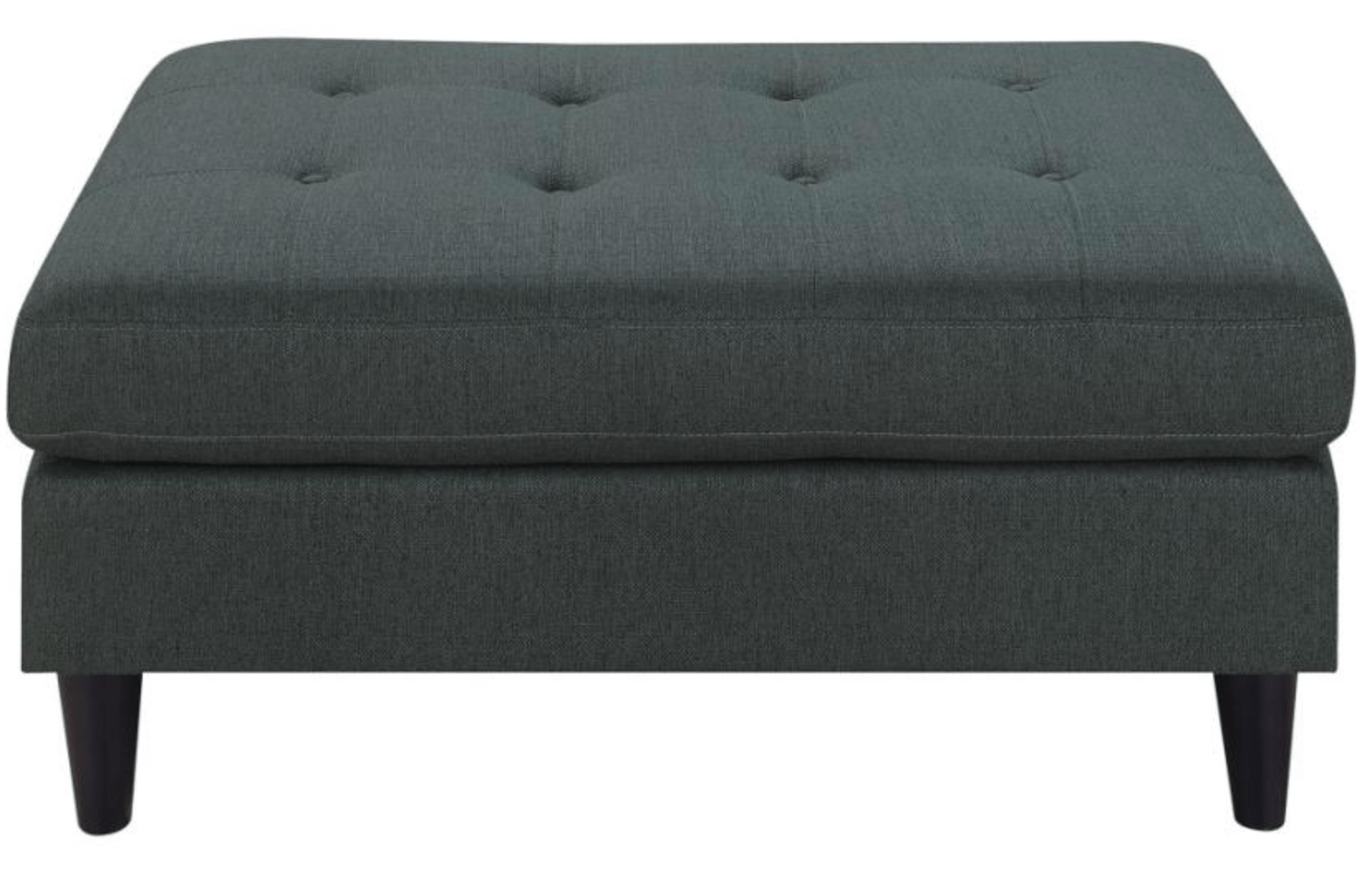 charcoal grey fabric ottoman 505380 by coaster