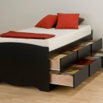 Prepac Black Tall Twin Platform Storage Bed 6 Drawers Bbt4106 Furniture Outlet San Diego Jeromes Mor Furniture Furniture Warehouse