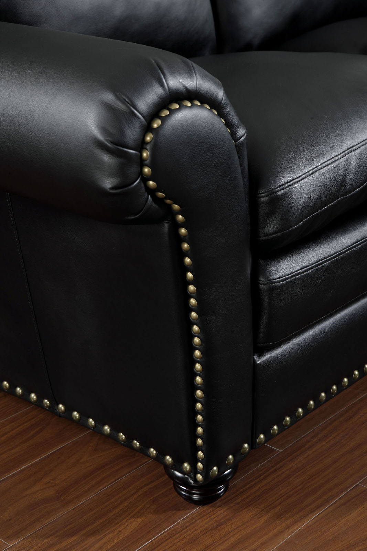 6808 Black Nail Head Trim Sectional Sofa Furniture Of America Long Beach Irvine Anaheim San Diego