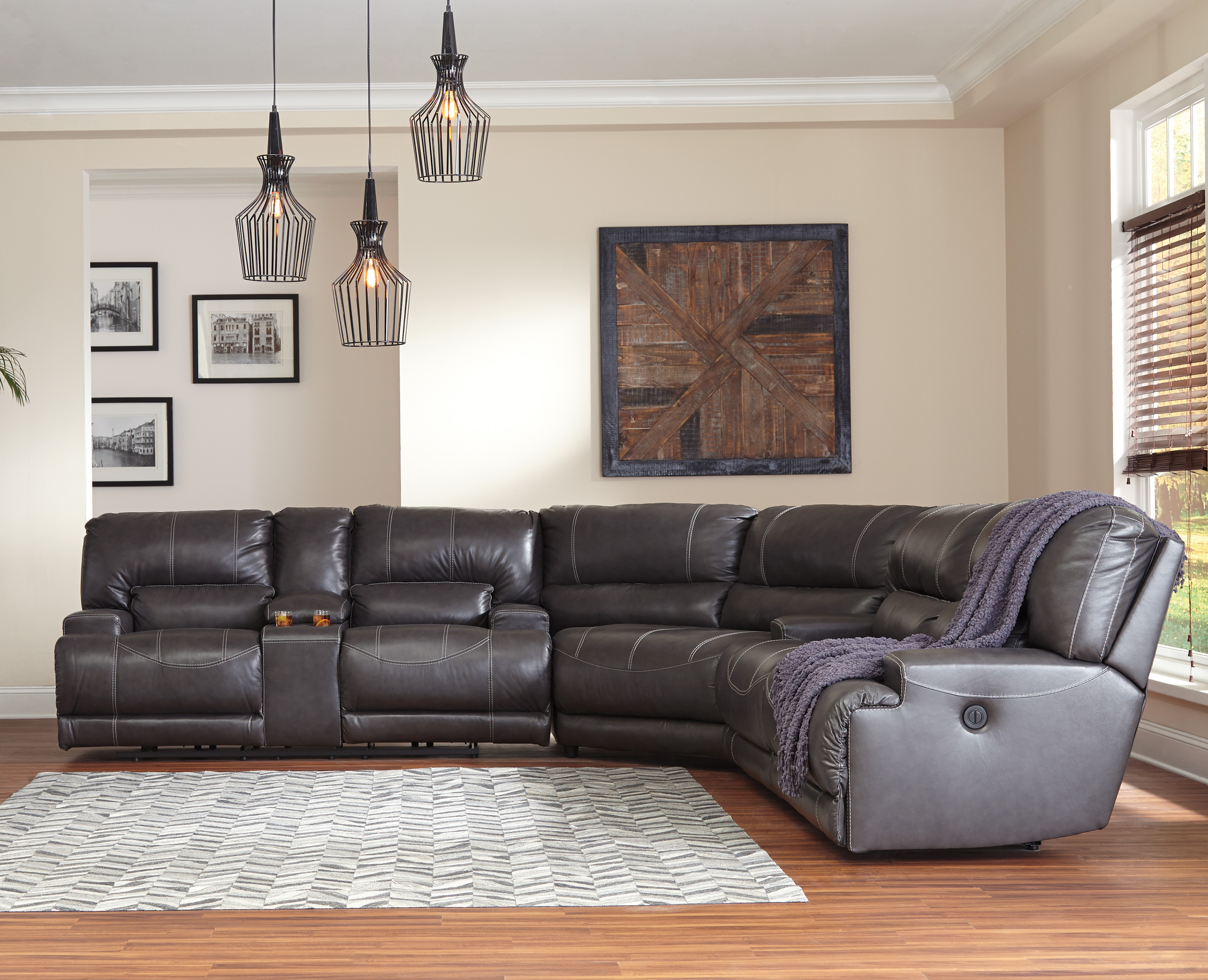 Mccaskill Collection U60900 By Ashley Power Reclining Sectional Sofa