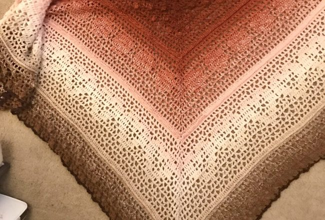 Brown mix Grinda Shawl