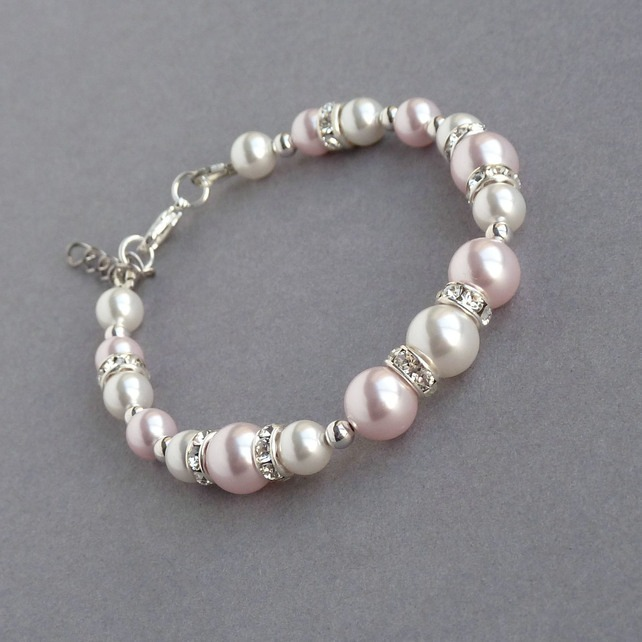 Folksy Friday Pink Bracelet