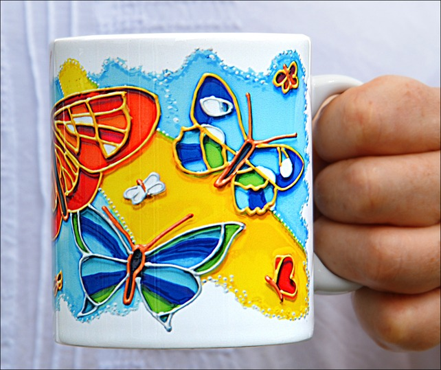 Butterfly Ceramic Coffee Mug