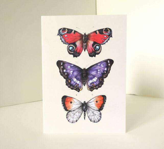 Folksy Friday Butterfly Card