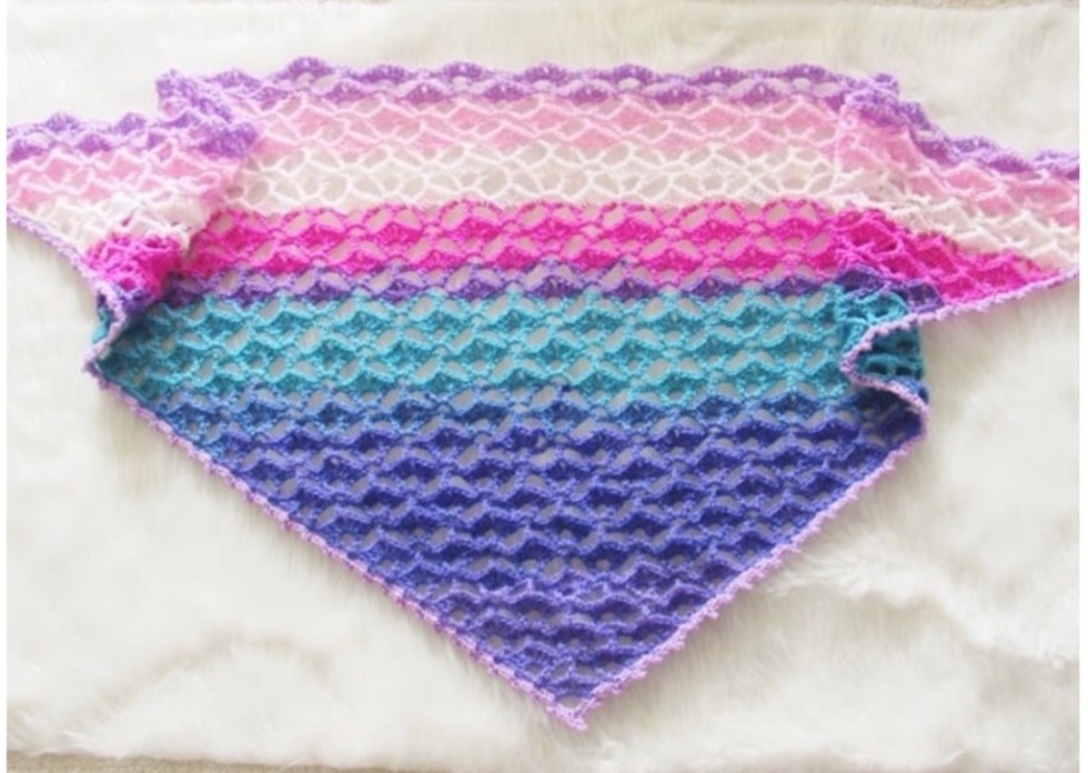 Crochet lacy scarves and shawls