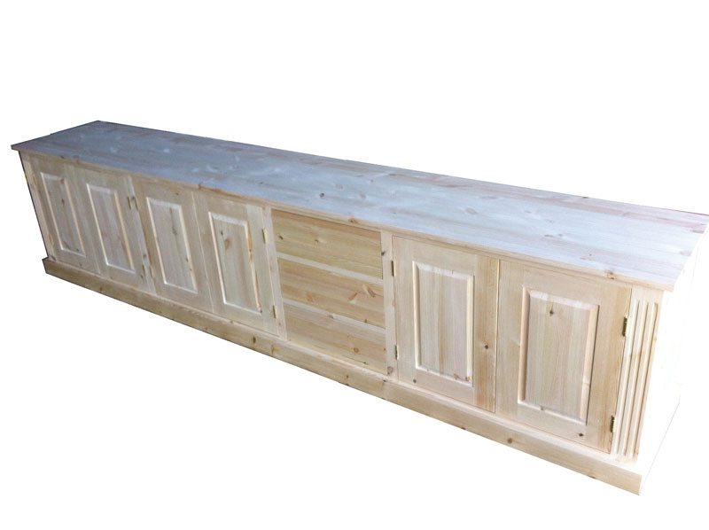 Wye Pine Long Low Sideboard With Drawers