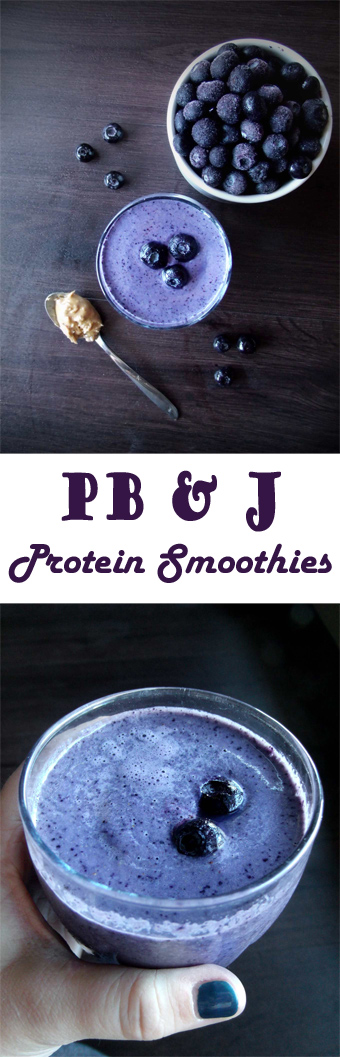 Peanut Butter Jelly Protein Smoothie