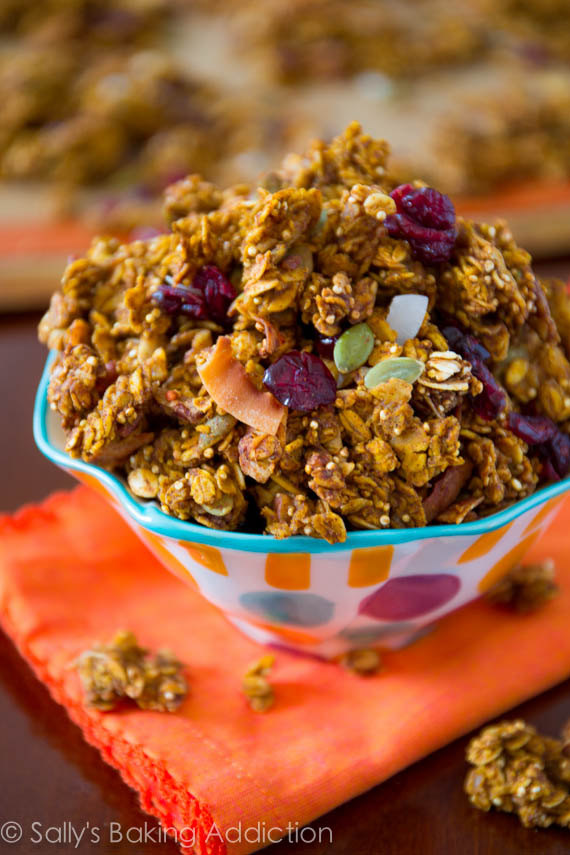 5 Pumpkin Spice Recipes You Haven't Tried Yet - Crunchy Pumpkin Spice Granola