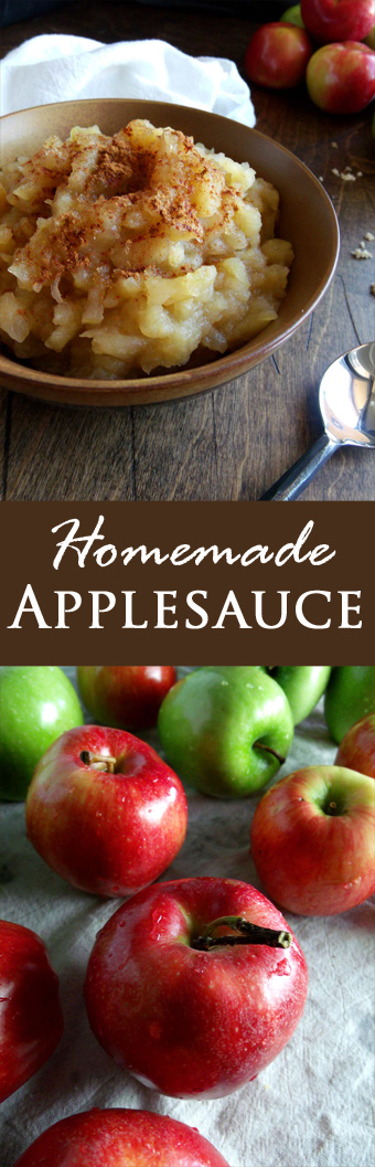 Healthy Homemade Applesauce - sugar-free and sweetened options!