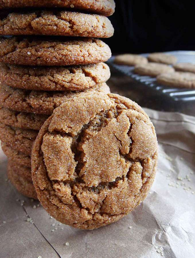 These chewy gingersnaps are a staple in any cookie plate! Bonus: The house smells like Christmas!