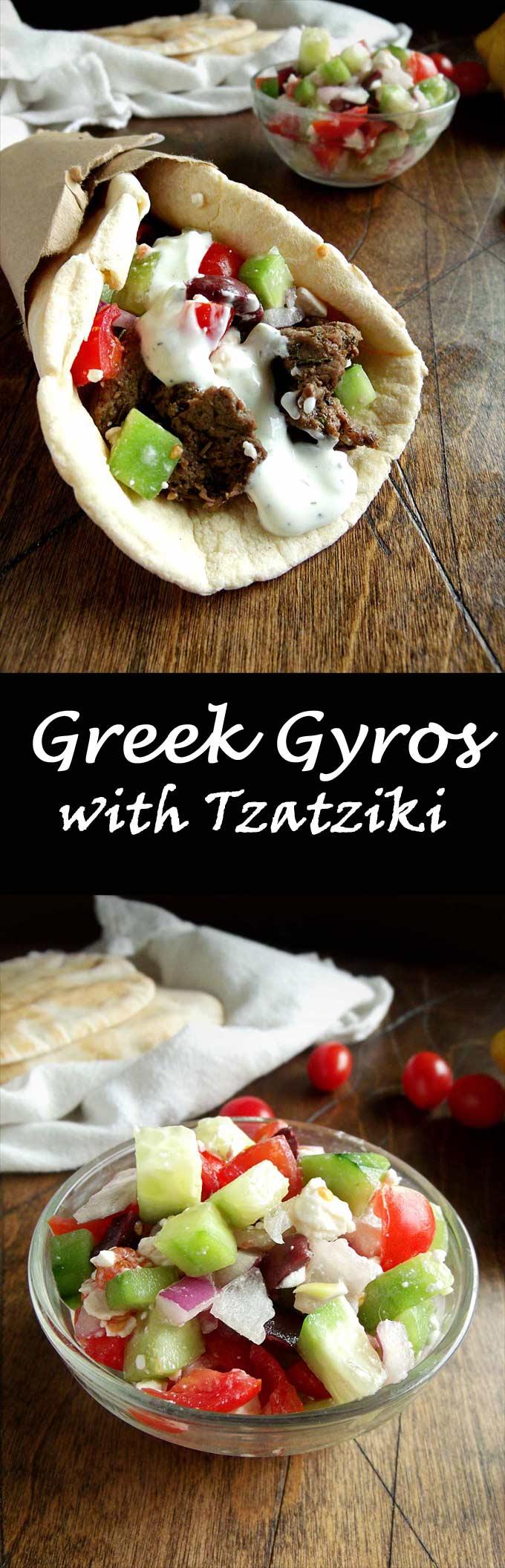 Greek Gyros with Tzatziki Sauce