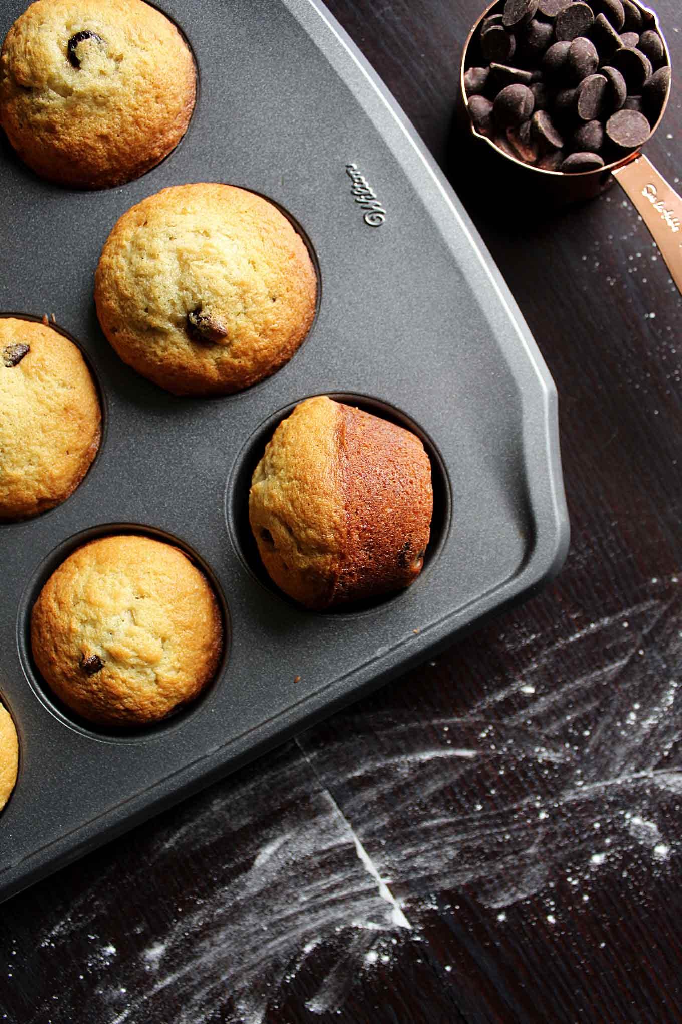 Banana Chocolate Chip Muffins | wyldflour