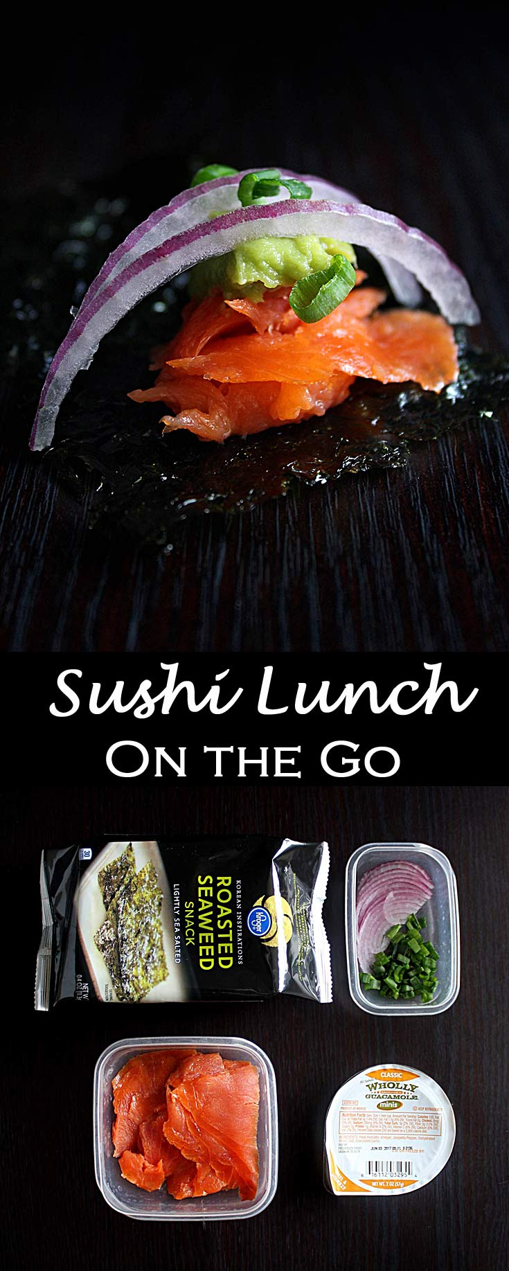 Healthy Easy Sushi Lunch On the Go | Quick Lunch Ideas | Low Carb | Homemade Sushi | Lunch Containers