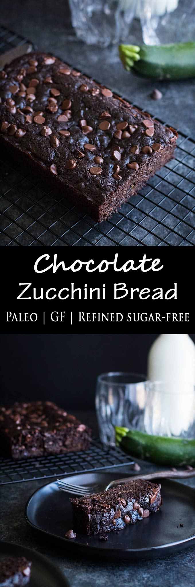 This double chocolate zucchini bread is sinfully rich, fudgey, paleo, gluten-free, and refined sugar free. Enjoy a treat with a fraction of the guilt!