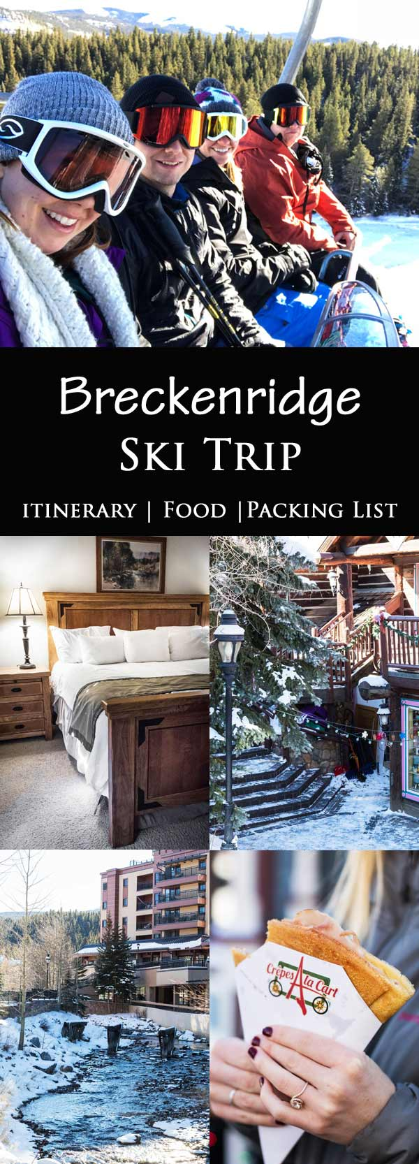 Check out our ski trip reviews of Breckenridge Resort - complete with ski in ski out condo, food recommendations, and packing list! The Village is the perfect Winter vacation!