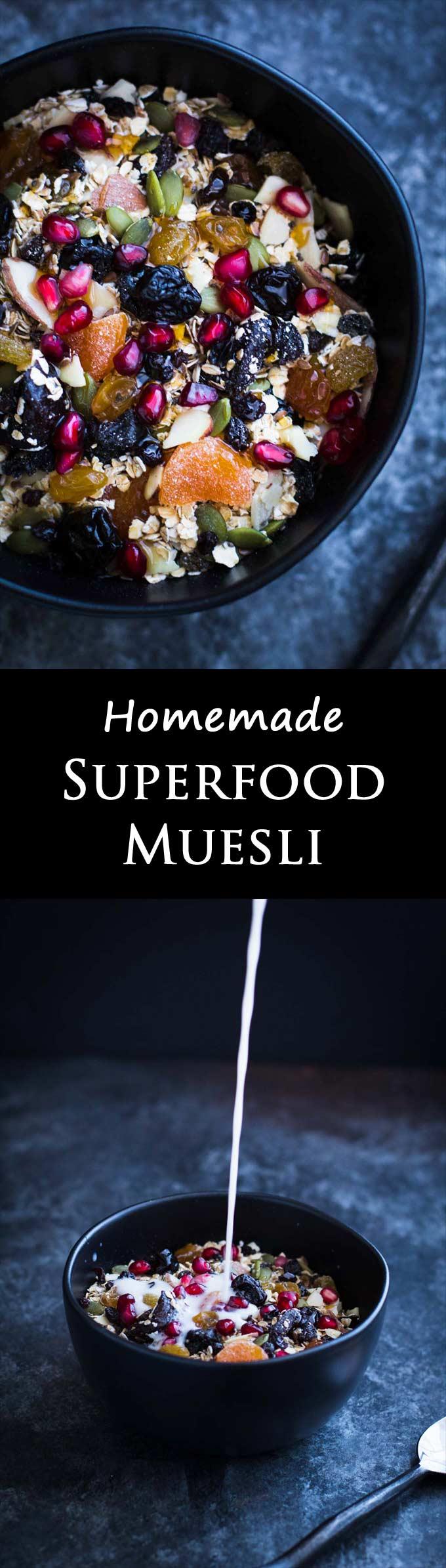Homemade Muesli | Healthy Superfood | Breakfast | Gluten-free | Vegan | Vegetarian | Quick and Easy