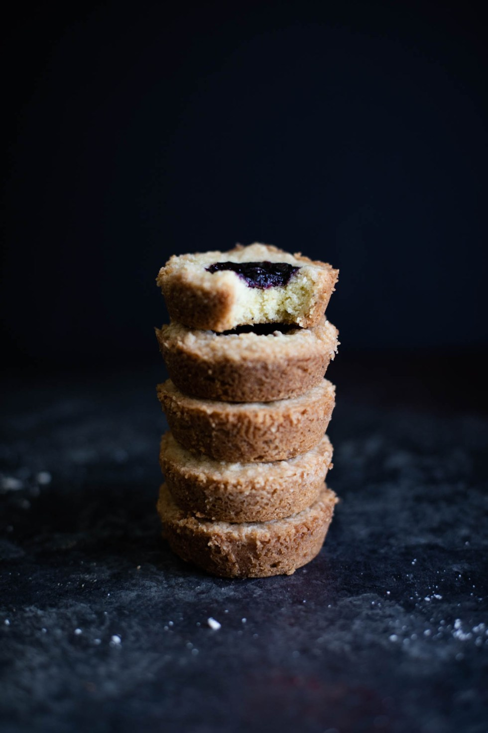 Buttery shortbread cookies infused with Earl Grey butter, topped with blackberry jam, and sprinkled with crumb topping. These cookies are a classy treat and easy to share!