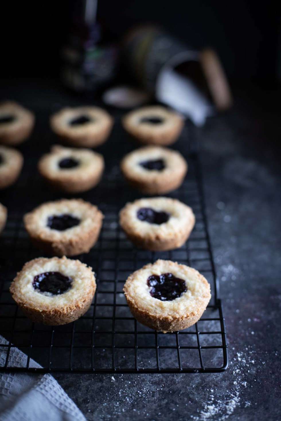 Earl Grey Shortbread | Cookies | Blackberry Jam | Easy Recipes | Tea-Infused Butter | Crumb Topping