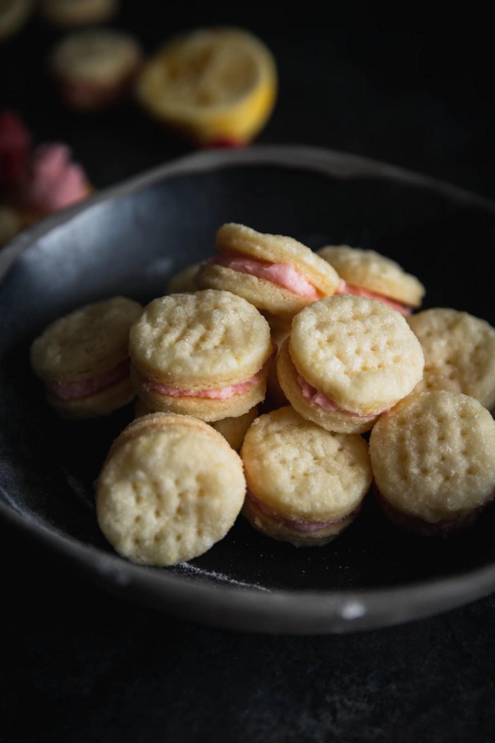 Lemon Raspberry Swedish Cream Wafers   Cookies   Recipe   Raspberry Buttercream