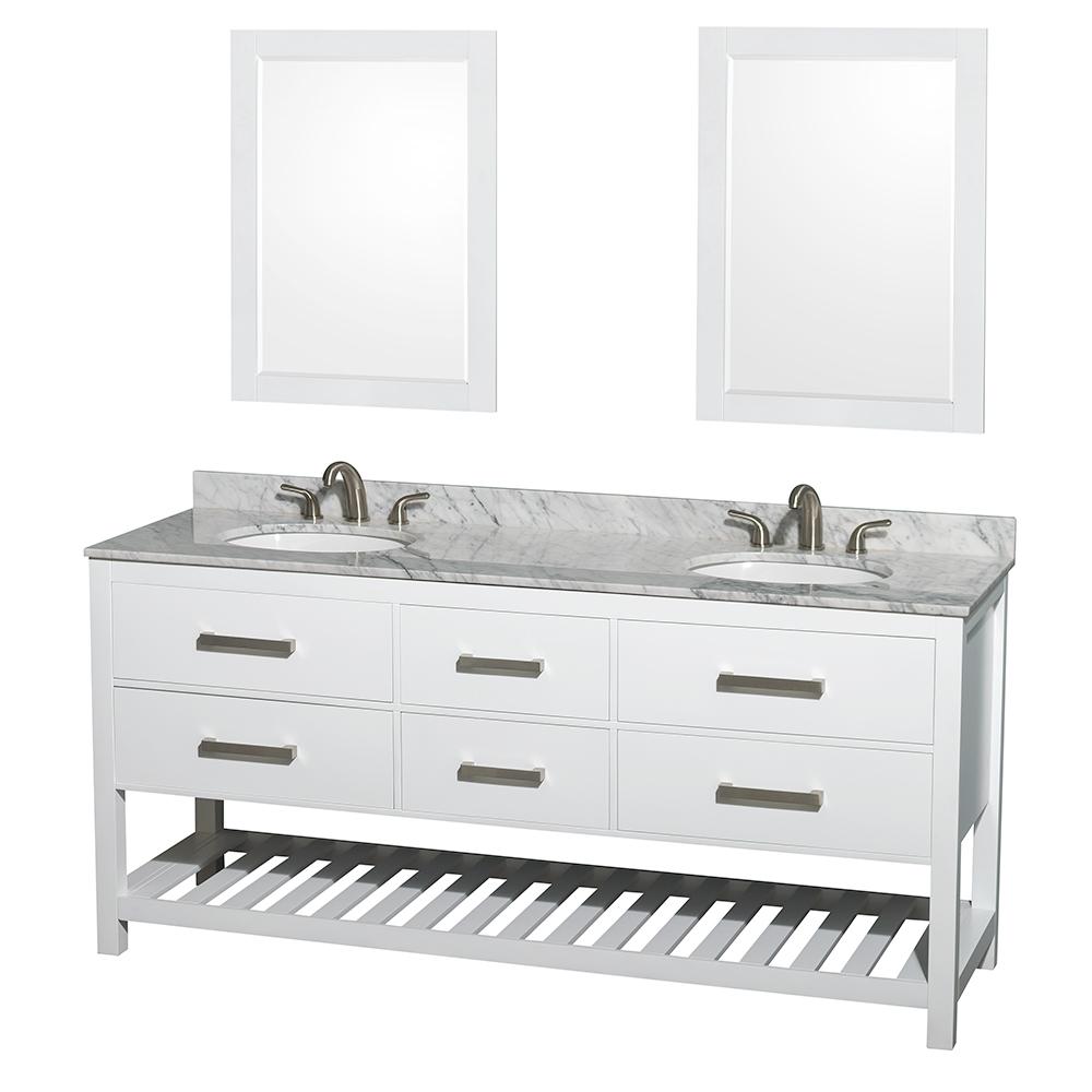 natalie 72 double bathroom vanity white