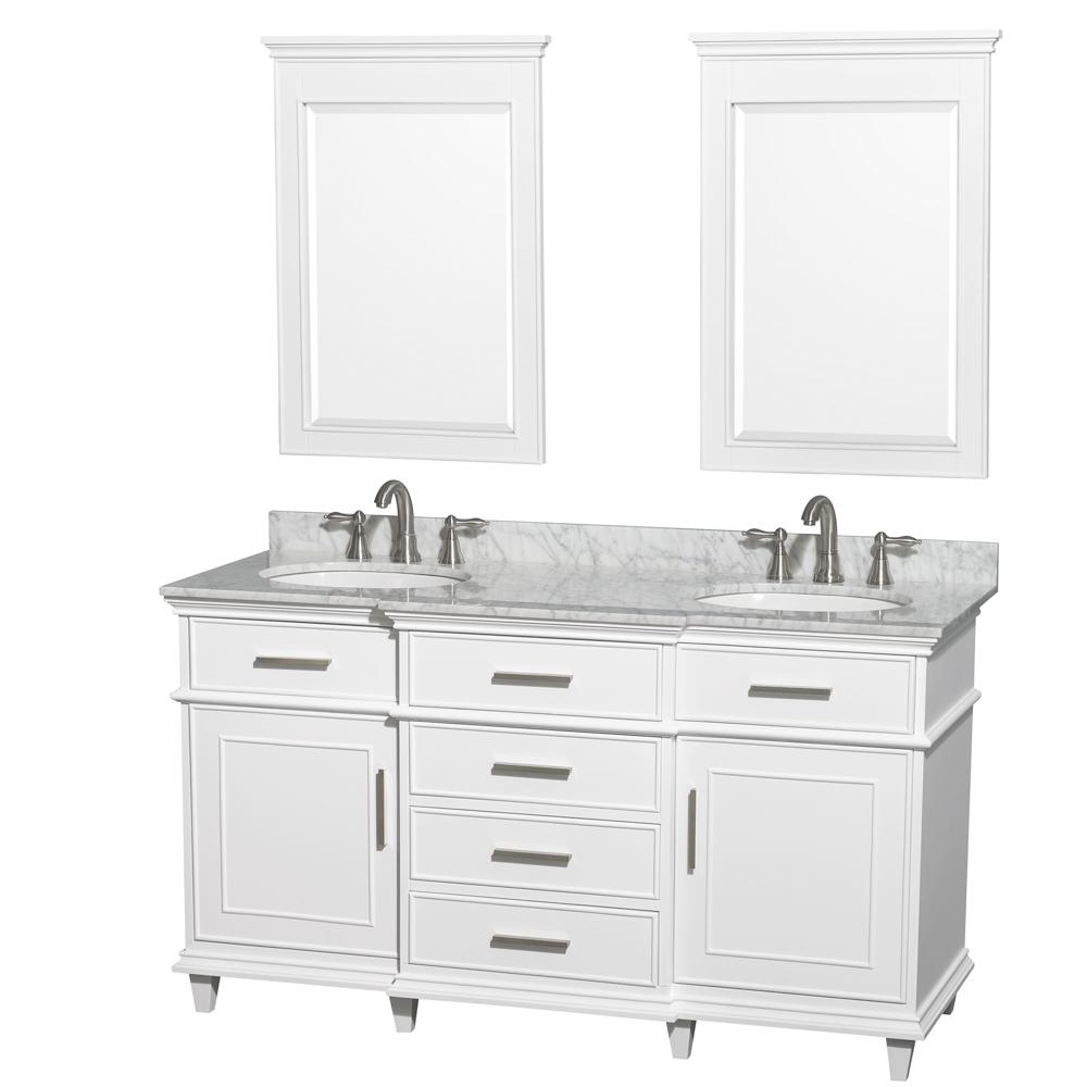 berkeley 60 double bathroom vanity white