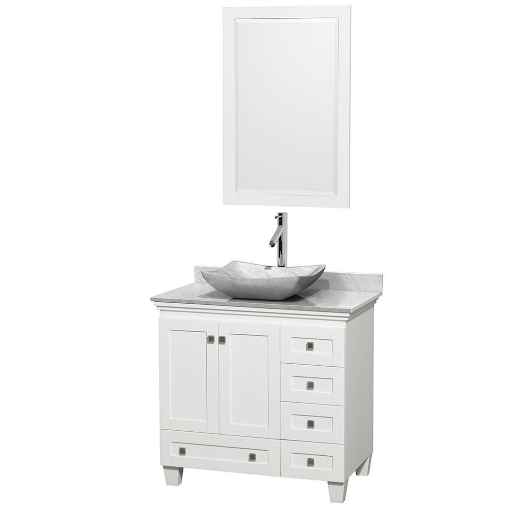 acclaim 36 single bathroom vanity for vessel sink white