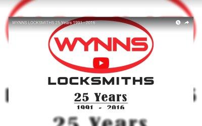 25 Years of Wynns Locksmiths